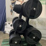 Technogym Olympic Plate weights & tree